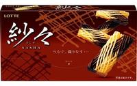 Lotte Sasha Шоколад комбинированный молочный, белый, 15 шт, 69 гр.