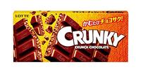 Lotte Crunky Шоколад молочный, хрустящий, плитка, 50 гр
