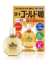 Rohto Gold 40 Капли для глаз для профилактики старения с пантенолом, хондроитином, Е, B6 и таурином, 20мл