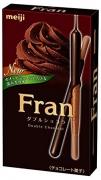 Meiji Fran Бисквитные хрустящие палочки в тёмном шоколаде
