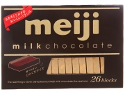 Шоколад молочный Meiji 26 блочков
